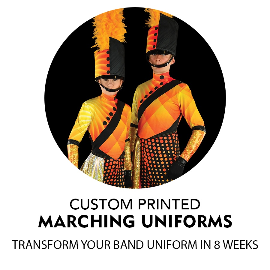 Custom Printed Marching Band Uniforms